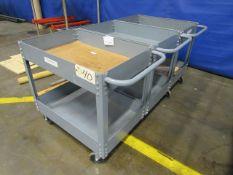 (3) Portable Carts