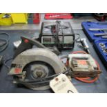 Skilsaw, Jig Saw, 10 Amp Battery Charger, (2) Pneumatic Tools