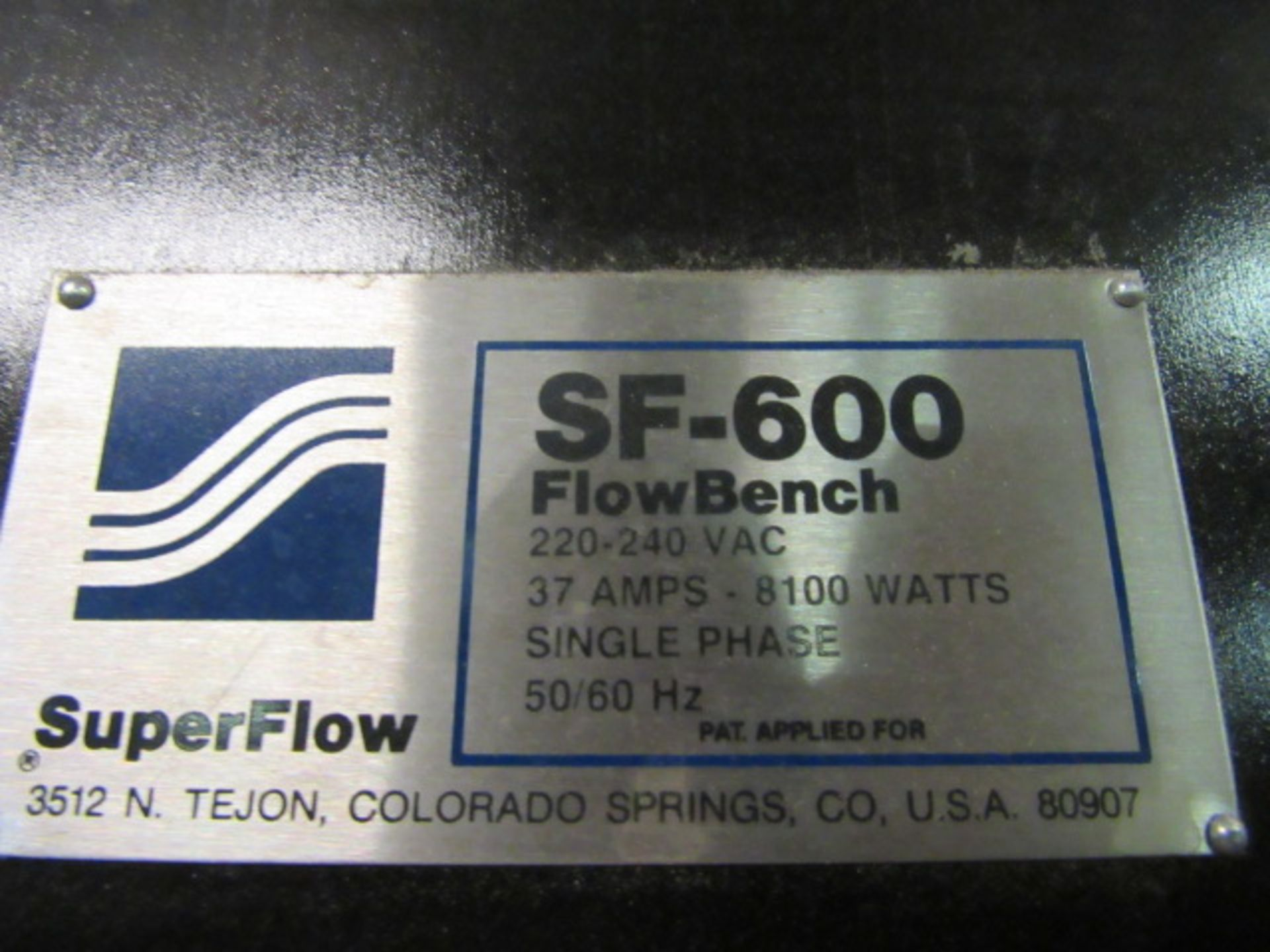 Superflow Model SF-600 Test System - Image 5 of 5