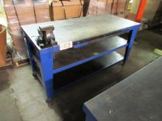 Portable Steel Workbench & Vise