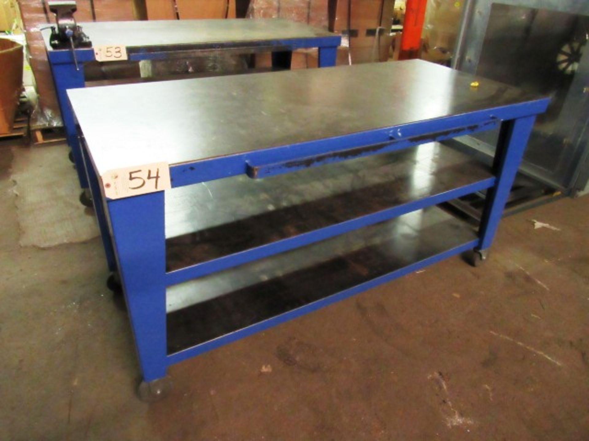 Lot 54 - Portable Steel Workbench