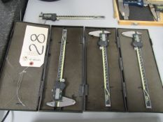 (4) Mitutoyo Absolute Digital Calipers