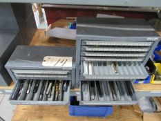 (3) Huot Index Boxes with Metric & Fractional Taps