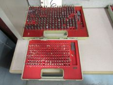 (2) Pin Gauges Sets 0.250'' - 0.500''