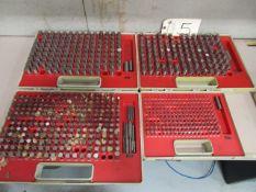 (4) Pin Gauges Sets 0.250'' - 0.750''
