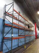 4 Sections of 42'' x 9'W Multitier Pallet Racking