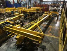 Useco 22' Span 1 Ton Single Girder Underslung Overhead Bridge Crane with Yale 1 Ton Electric Hoist