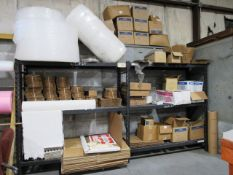 (2) Rack & Contents consisting of Shipping Supplies