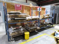 2 Sections of Pallet Racking (no contents)