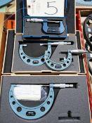 (4) Mitutoyo Blade Micrometers