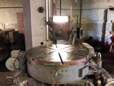 Pratt & Whitney 36'' Motorized Tilt Type Power Rotary Table