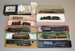 OO Gauge 10 kit built Locomotives by Branchlines and K's Kits etc all vary in condition (10). [NO