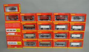 OO Gauge. 24 boxed Hornby Wagons of various types including ex LMS Coke Hopper Wagons, 'Blue Spot'