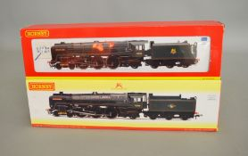 OO Gauge. 2 boxed Hornby DCC Ready Locomotives, R2718 BR lined green 4-6-2 Britannia Class '70050