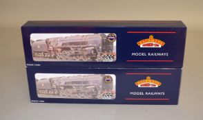 OO Gauge. 2 boxed Bachmann DCC Ready BR Class 9F 2-10-0 BR unlined black Steam Locomotives, 32-