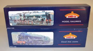 OO Gauge. 2 boxed Bachmann 4-6-0 BR lined green Steam Locomotives, 31-203 Rebuilt Patriot Class '