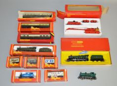 OO Gauge. 3 boxed Hornby Locomotives, R.759 GWR 4-6-0 Hall, R.796 0-4-0T Crewe & District Quarries