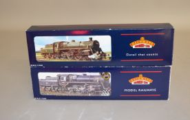 OO Gauge. 2 boxed Bachmann BR lined black Standard Class 4MT Steam Locomotives with BR1B Tenders,