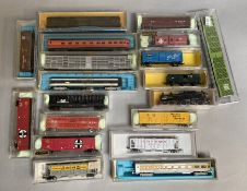 N Gauge US rolling stock by Mixed makers inc. AHM, Model Power, Life-Like Etc (18) Some scuffing and