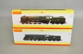 OO Gauge. 2 boxed Hornby BR lined Green DCC Ready Locomotives, R3236 4-6-2 Standard Class 8P '