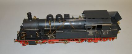 Gauge 1. A live steam Aster Deutsche Bahn 4-6-4 Tank Locomotive '78246' in black. This unboxed model