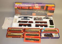 OO Gauge. A boxed Hornby R.758 'Night Mail Express' Train Set, appears largely complete,