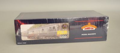 OO Gauge. A boxed Bachmann 32-911 (DCC Ready) Derby Class 108 3 car DMU Set in BR green with