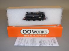 OO Gauge. A boxed OO Works 0-6-0 L&Y Saddle Tank Locomotive '51404', BR unlined black, appears VG.