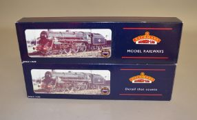 OO Gauge. 2 boxed Bachmann  4-6-0 Standard Class 5MT unlined black Steam Locomotives, 32-505 '73069'