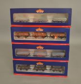 OO Gauge. 4 boxed Bachmann three 'weathered' Wagon sets, two of which, 33-080X and 33-080Y,