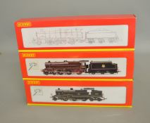 OO Gauge. 3 boxed Hornby Locomotives, R2287 BR Fowler 2-6-4T Class 4P Weathered '42322', R2322 BR