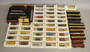 OO/HO Gauge. Approximately 70 unboxed Coaches and Wagons of various types by Hornby, Tri-ang etc.