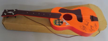 The Beatles New Beat guitar made under licence by Selcol in England with sticker still intact inside