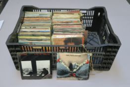 Various 7 inch singles in alphabetical order including B's to J's records from various decades