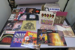 Box of LP records including Led Zeppelin II, Song Remains the same, Story of the Who, Sgt Peppers