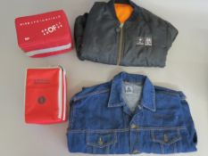 Island / A&M Records promotional jacket plus denim jacket MCA promo from Big Biz promotions London