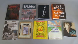 Bob Dylan books including a sealed copy of the Brazil series official programme for the Picnic at
