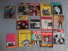 Beatles, Elvis Presley and Rolling Stones vintage magazines including Elvis monthly no 1 (1962),