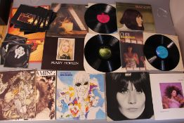 Female vocalist records including Mary Hopkin Postcard Apple APCOR5, Kate Bush Lionheart, Never