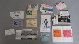 Concert tickets including Michael Jackson Wembley stadium 1988, plus Michael Jackson July 30 1992,