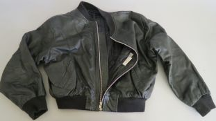 Eurythmics real leather promotional black jacket size large with band name impressed on shoulder and