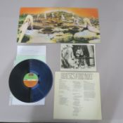 Led Zeppelin John Bonham signed LP cover for Houses of the Holy K 50014 together with the record,