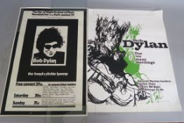 Bob Dylan 3 posters One too many mornings (29 x 22 inch) rolled plus Isle of Wight Festival of music