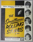 The Sensational Rolling Stones 1964 tour souvenir programme presented by Robert Stigwood assoc. Ltd.