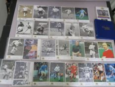 Westminster autographed editions football greats each one has a COA and full biography to reverse,