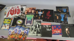 Tour programmes including Eric Clapton Journeyman, Kansas 88/89 x2, David Lee Roth A Little Ain't
