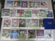 Westminster autographed editions football greats hand signed footballer photos in folder each