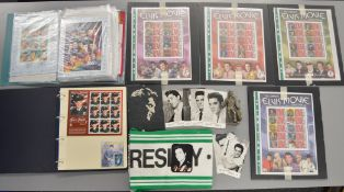 Elvis Presley related ephemera including limited edition stamp sheets, postcards etc.