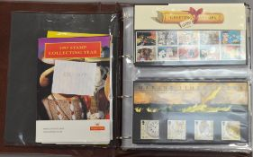 A folder of approx sixty Royal Mail Presentation packs 1992-1998
