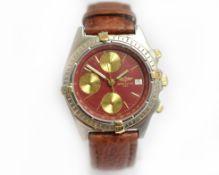 BREITLING - A gents automatic bi-metal Breitling Chronomat wristwatch, 51397, circa 1997, approx